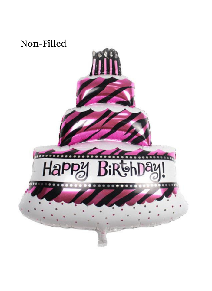 Three Tier Cake Foil Balloon 18 inch Pink