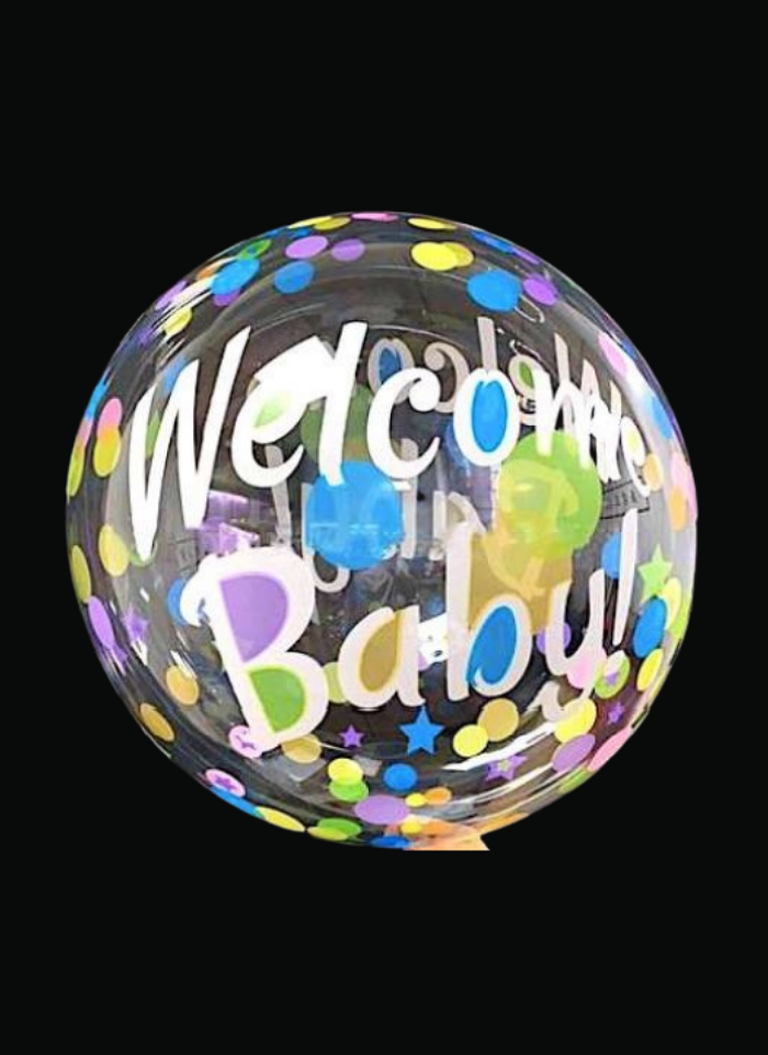 Welcome baby Transparent printed bobo balloon pack of 1