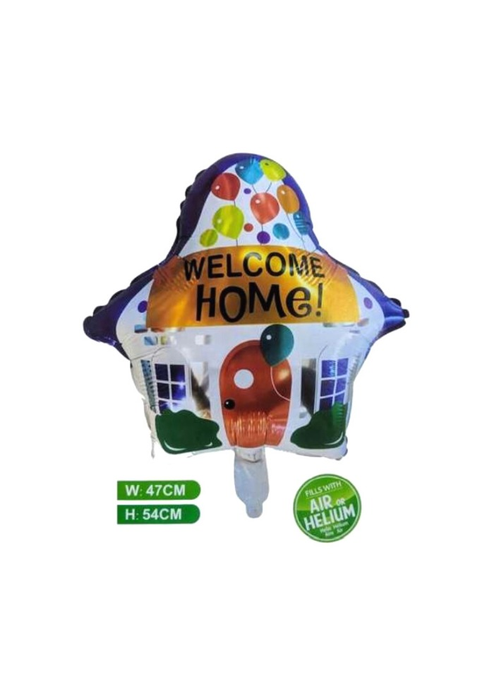 Welcome home foil balloon pack of 1