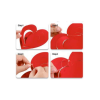 Heart hanging 3D 16 pieces Red pack of 1