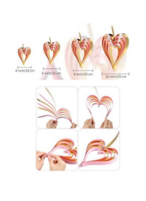 Heart hanging 4 hearts of different sizes pack of 1
