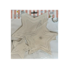 Star paper hanging 3D 11 pieces Silver pack of 1