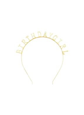 Birthday girl headband Gold pack of 1