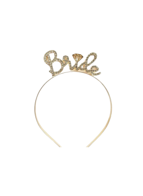 Bride To Be headband Gold pack of 1