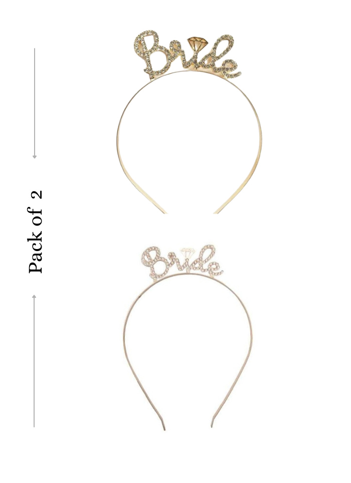 Bride To Be headband Rose Gold and Gold 2 Pieces pack of 1