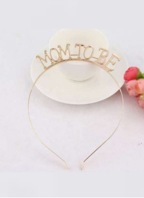 Mom To Be headband Gold pack of 1