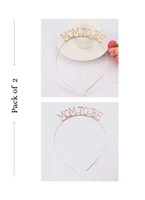 Mom To Be headband Rose Gold and Gold 2 Pieces pack of 1