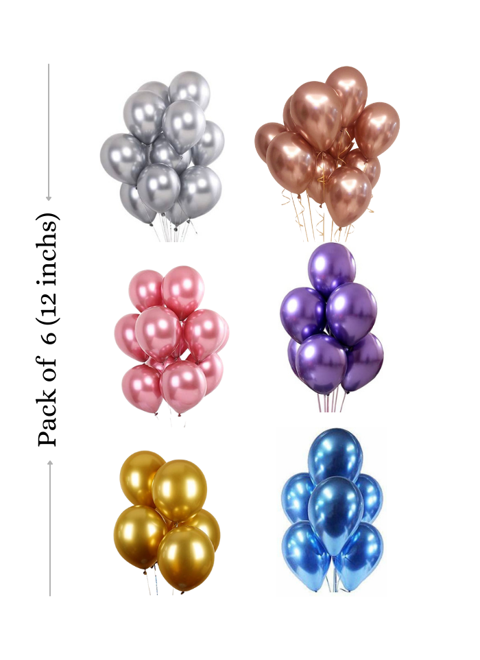 Chrome balloons 50 Pieces 12 inch pack of 1