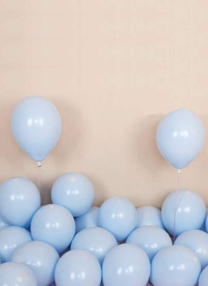 Macron Pestal Color Blue Balloon 100 Pieces 14 inch pack of 1