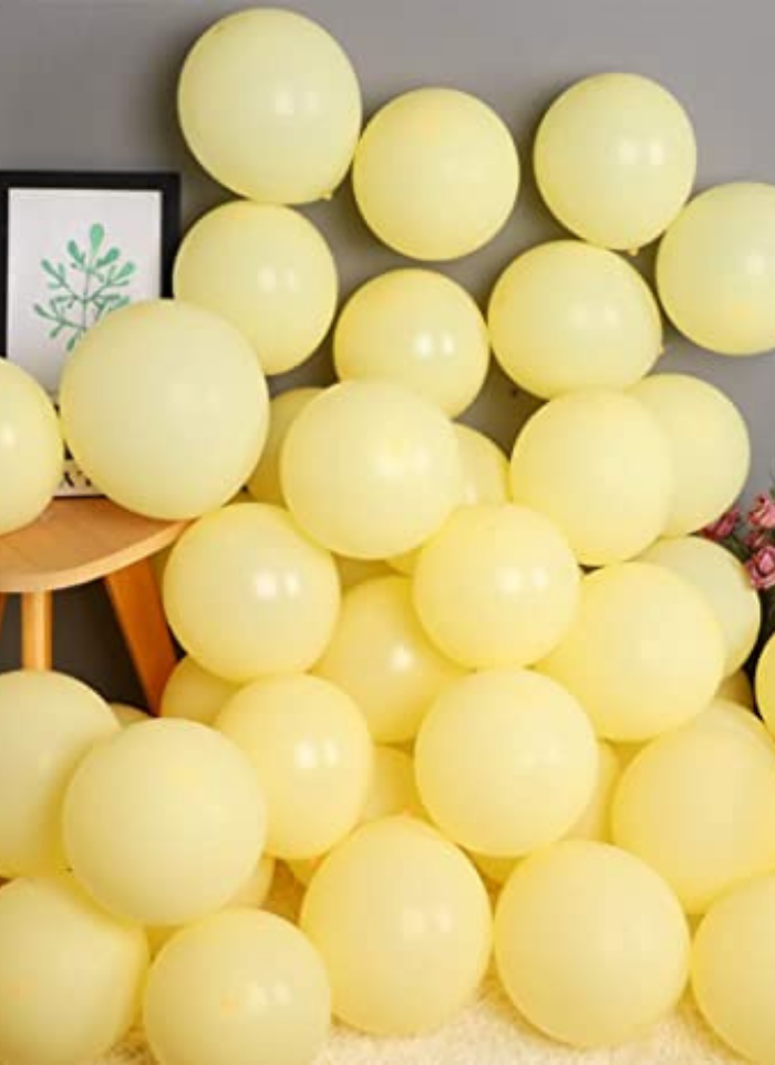 Macron Pestal Color Yellow Balloon 100 Pieces 14 inch pack of 1