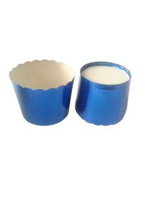 Metalized Lidding Cups Blue 90 ml pack of 50