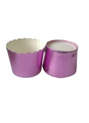 Metalized Lidding Cups Rose Gold 90 ml pack of 50