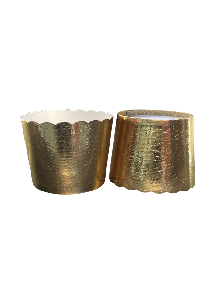 Metalized Lidding Cups Golden 90 ml pack of 50