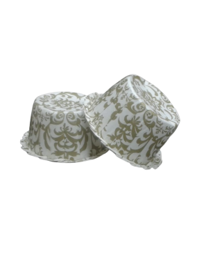 Muffin Cups White Green 100 ml pack of 50