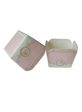 Square Cups Baby Pink 100 ml pack of 50