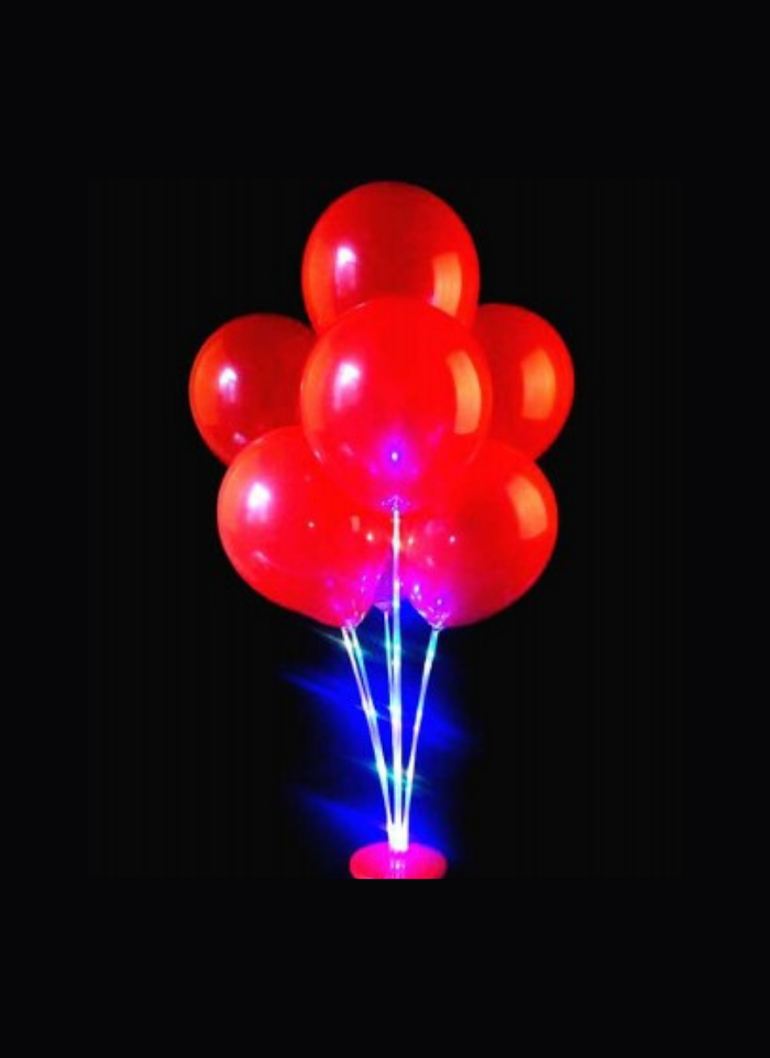 Balloon stand with led light 3 feet pack of 1