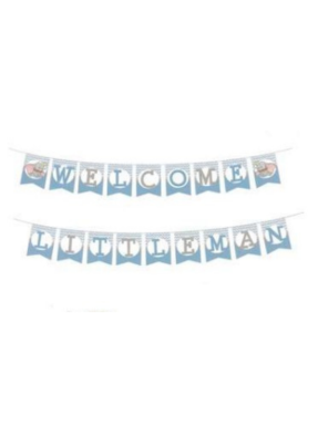 Welcome little man banner pack of 1