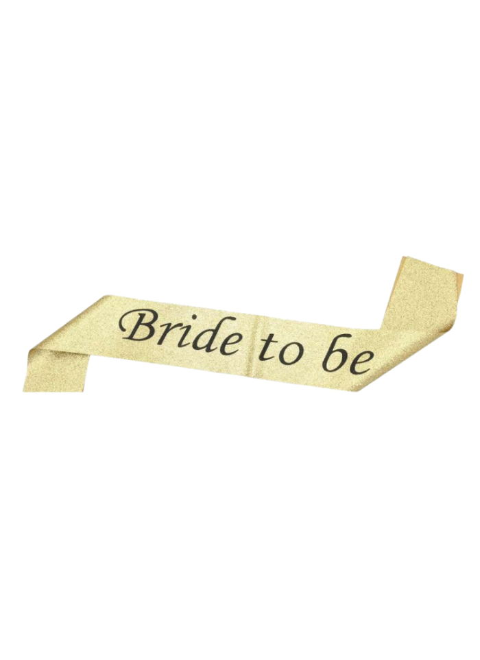 Golden Glitter Sash Bride To Be pack of 1