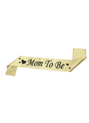 Golden Glitter Sash Mom To Be pack of 1