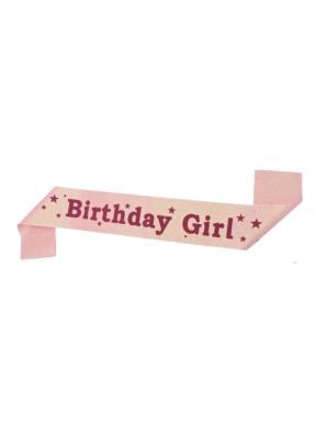Pink Glitter Sash Birthday Girl pack of 1