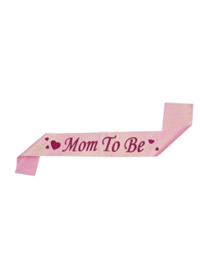 Pink Glitter Sash Mom To Be pack of 1