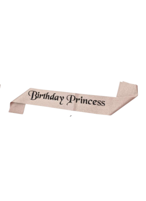 Rose Gold Glitter Sash Birthday Princess pack of 1