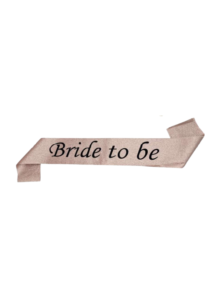 Rose Gold Glitter Sash Bride To Be pack of 1