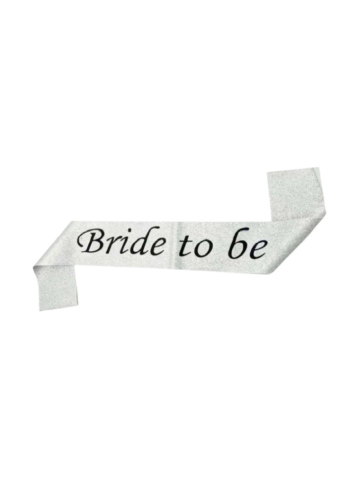 Silver Glitter Sash Bride To Be pack of 1