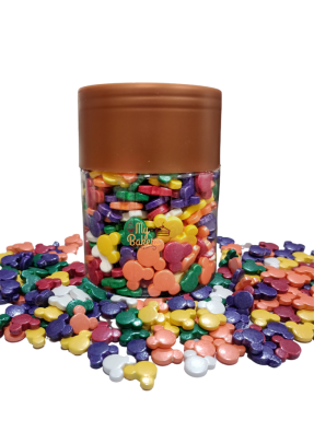 Multi Color Mickey Mouse Sprinkles 7 mm pack of 150 gram