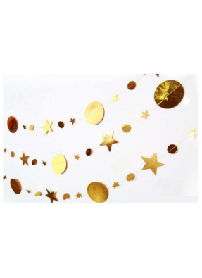 Star Round message string Golden 10 ft pack of 1