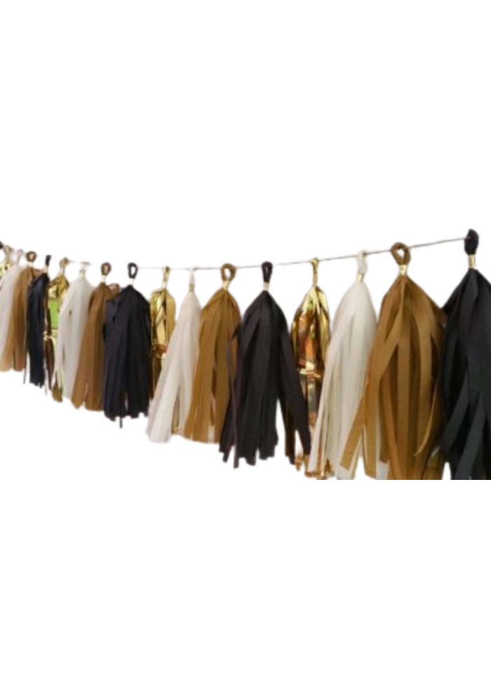 Tassels Hanging Decoration Black 20 pieces pack of 1