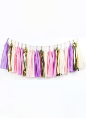 Tassels Hanging Decoration Purple 20 pieces pack of 1