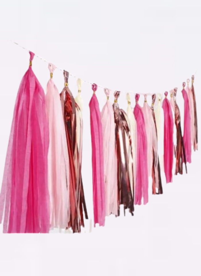Tassels Hanging Decoration Rose Gold 20 pieces pack of 1