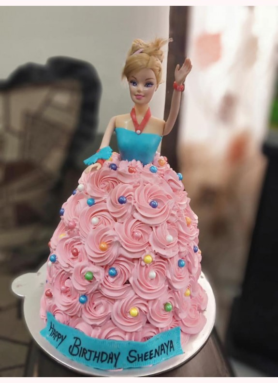 Cake for Birthday (Barbie Doll Cake)