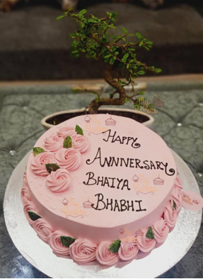 Anniversary Cake For Bhaiya Bhabhi