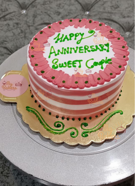 Anniversary Cake For Lovely Couple