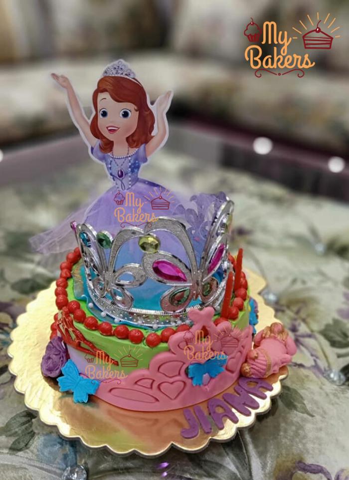 Beautiful Doll Birthday Cake
