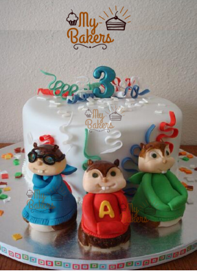Chipmunk Theme Cake