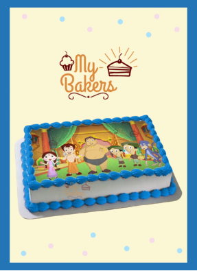 Chotta Bheem & Friends Theme Photo Cake