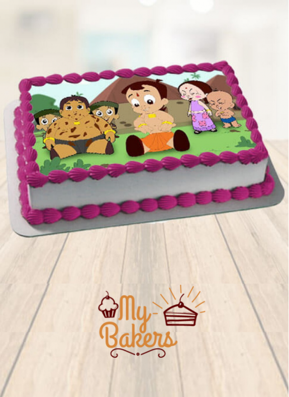 Chotta Bheem & His Friends Theme Photo Cake