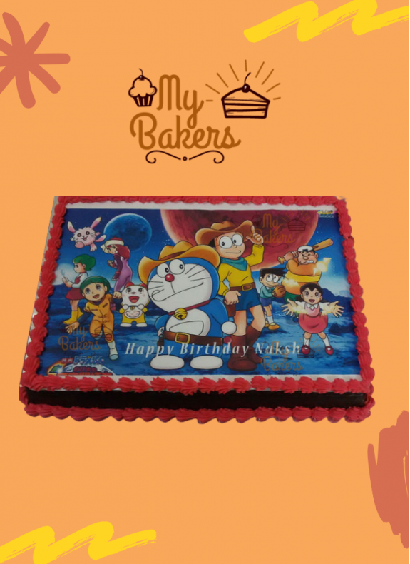 Doraemon Theme Photo Cake