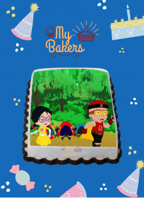 Yummy Mighty Raju Theme Photo Cake