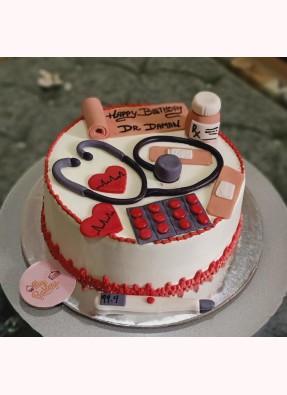 Doctor Theme Birthday Cake