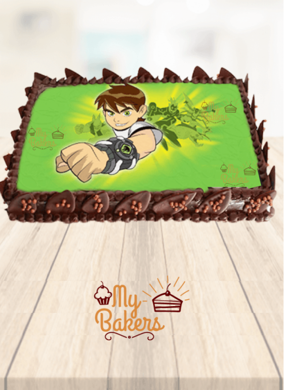 Ben 10 Theme Birthday Cake