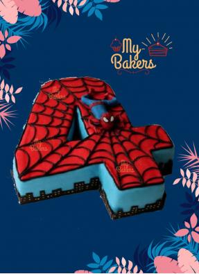 Finger Licking Spiderman Theme Cake