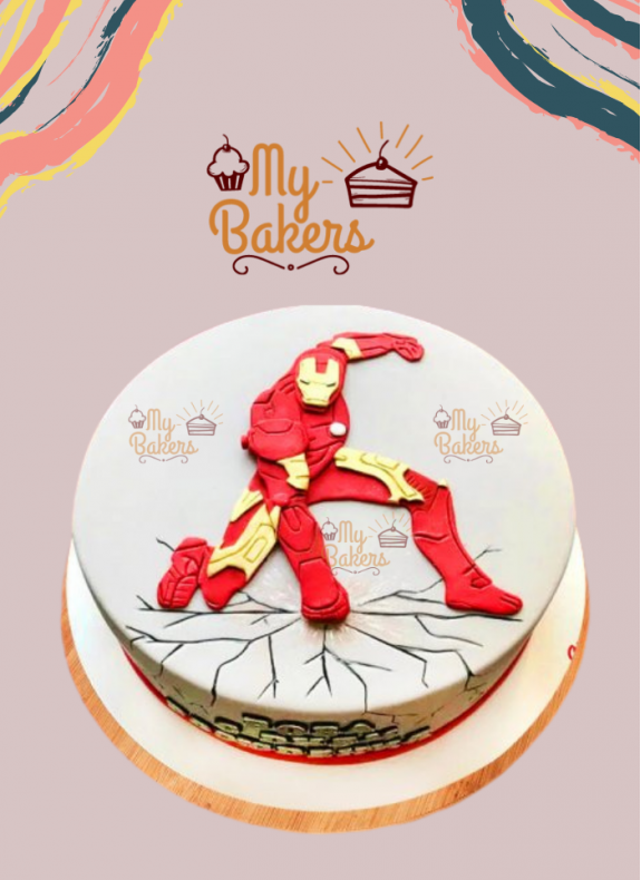 Flavourful Super Hero Theme Cake