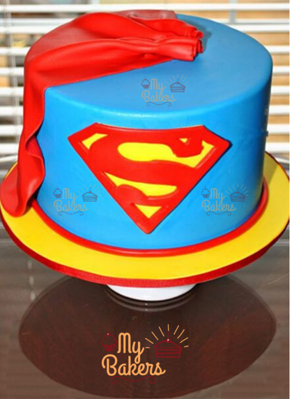 Exclusive Superman Theme Cake