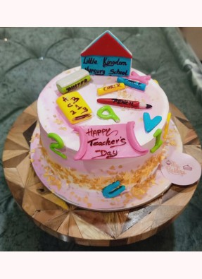 Teacher's Day Theme Cake