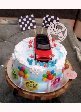 Car Theme Birthday Cake