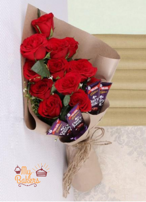 Roses And Chocolate Special Bouquet